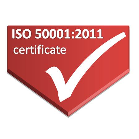 symbole de certificat de système de gestion de l'énergie