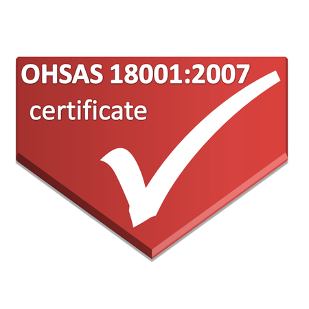 occupational: certificate symbol of occupational health and safety management system