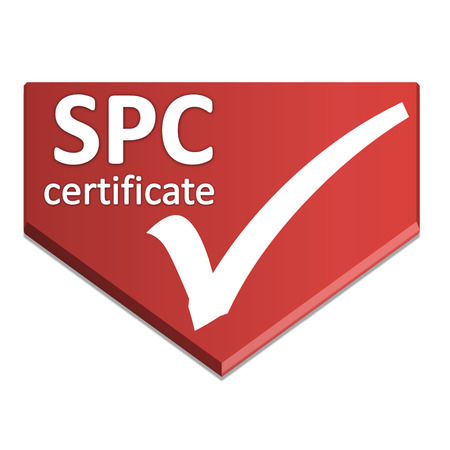 certificate symbol of automotive management system Stock Photo