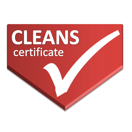 certificate symbol of clean Stock Photo