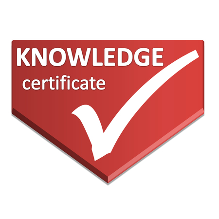 certificate symbol of knowledge