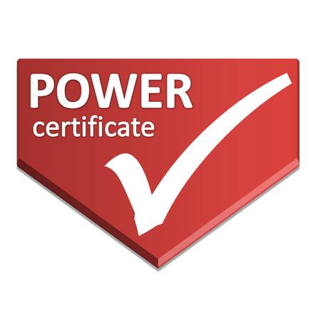 certificate symbol of power