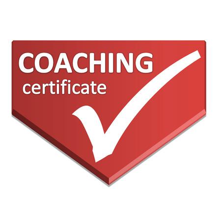 certificate symbol of coaching