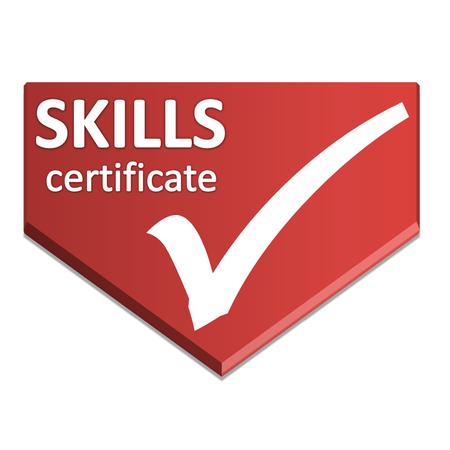 skill: certificate symbol of skill