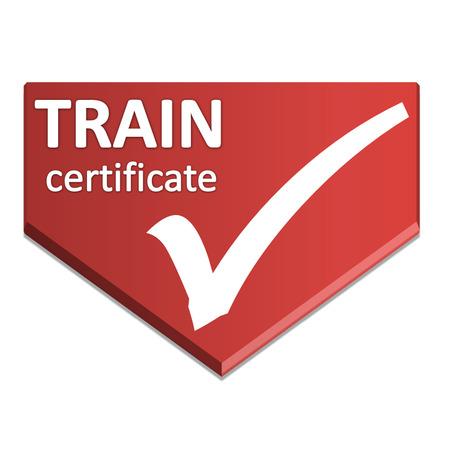 certificate symbol of train Stock Photo