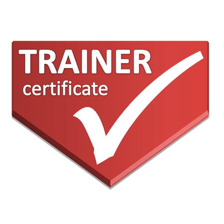 certificate symbol of trainer Stock Photo