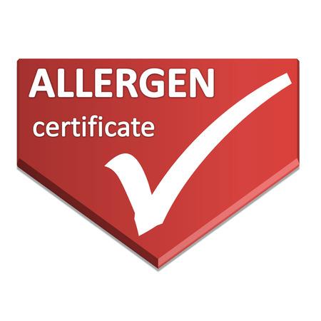 certificate symbol of allergen