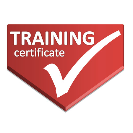 certificate symbol of training