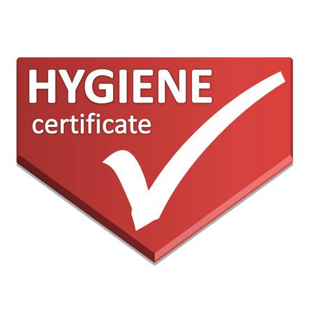 certificate symbol of hygienne