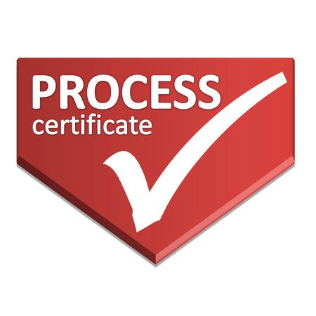 certificate symbol of process