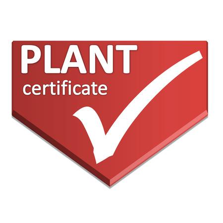 certificate symbol of plant