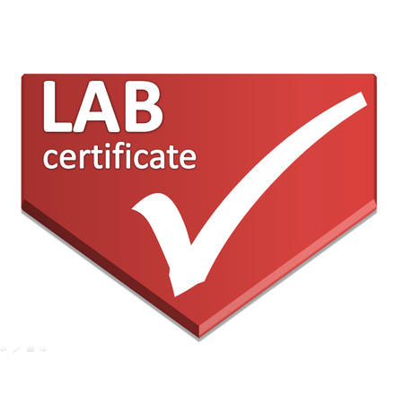 Certificate Symbol Of Laboratory Testing Stock Photo Picture And