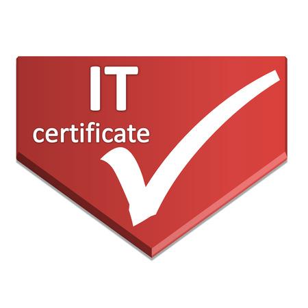 certificate symbol of it
