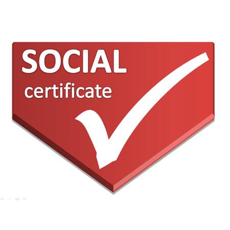 certificate symbol of social Stock Photo