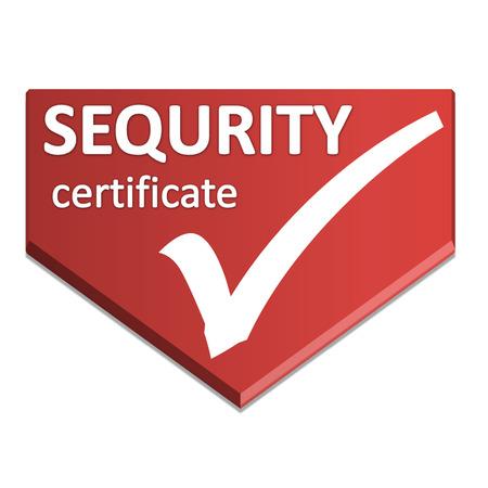 certificate  symbol of sequrity