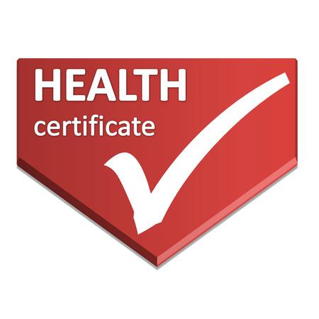 certificate symbol of health Stock Photo
