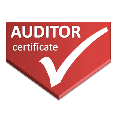 certificate symbol of auditor Stock Photo
