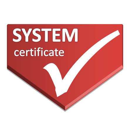 certificate symbol of system