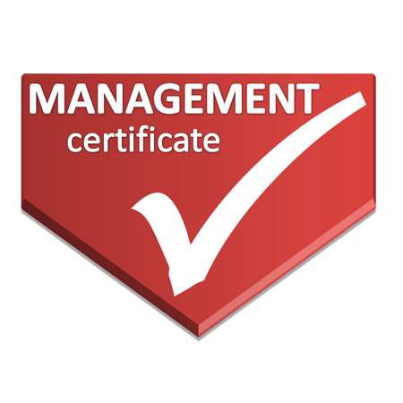 certificate symbol of management Stock Photo