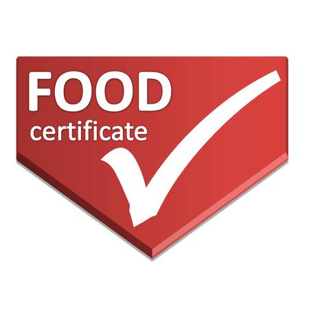 certificate symbol of food Stock Photo