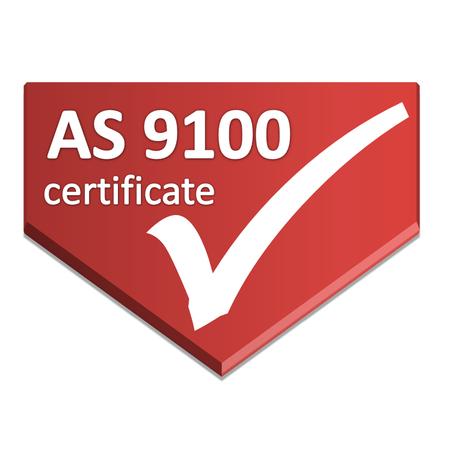 aerospace: certificate symbol of aerospace
