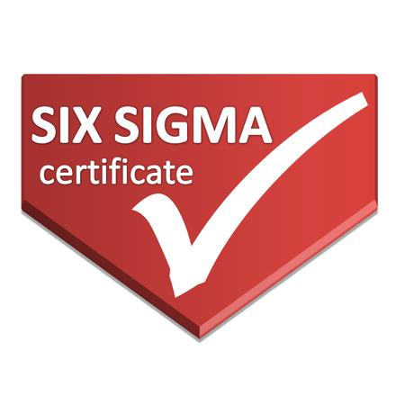 certificate symbol of six sigma