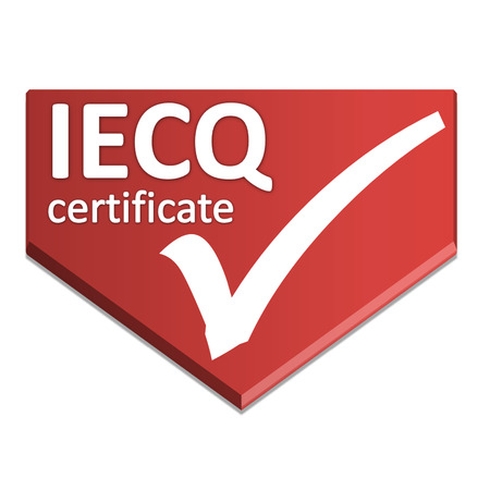 certificate symbol of electric management system Stock Photo
