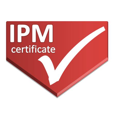 certificate symbol of integrated pest management