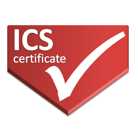 certificate symbol of social responsibility requirments-exporters to france Stock Photo