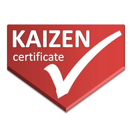 certificate symbol of improvement activity Stock Photo
