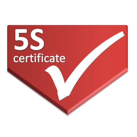 certificate symbol of five s activity Stock Photo