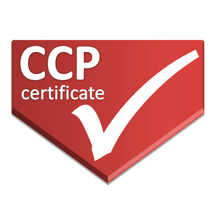 certificate symbol of  Critical Control Point Stock Photo
