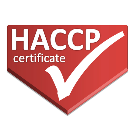 certificate symbol of Hazard Analysis Critical Control Point Stock Photo