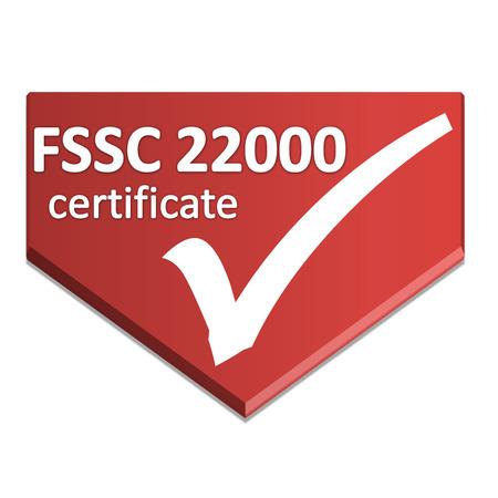 certificaat symbool van voedselveiligheid en higiene management systeem