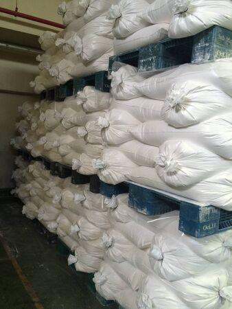 raw material in bag keepin factory warehouse