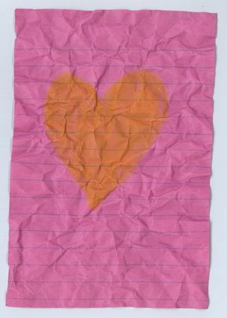 quiddity: a vintage paper has heart picture insite