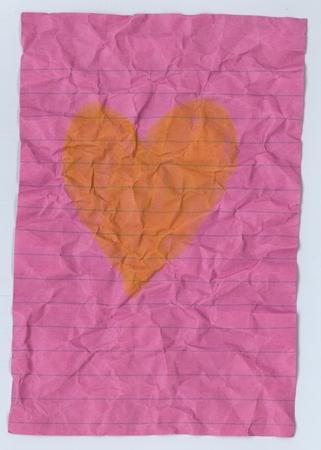 a vintage paper has heart picture insite
