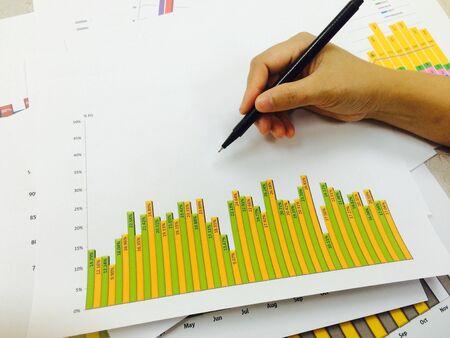retained: concepto de éxito del negocio de la mano en el informe de ejecución garph