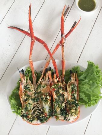 spicy shrimp cuisine food in thailand Stock Photo