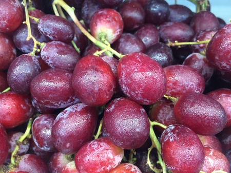 Bunch of red grapes on super market