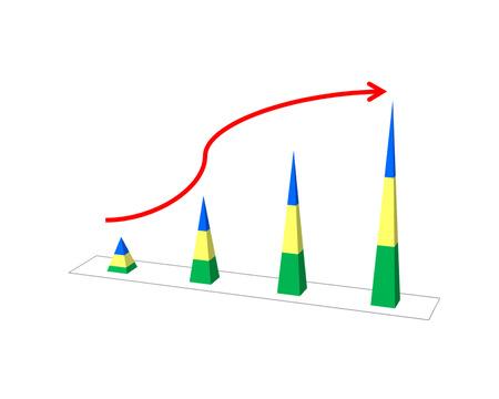 retained: El éxito del negocio concepto de espectáculo de aumento de imagen gráfica y la mano en el informe de ejecución gráfico