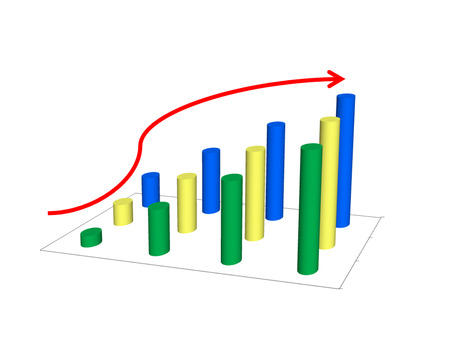 retained: Business success concept show graph picture increase and the hand on graph performance report Stock Photo