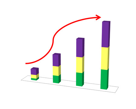retained: Business success concept show graph picture increase and the hand on graph performance report Foto de archivo