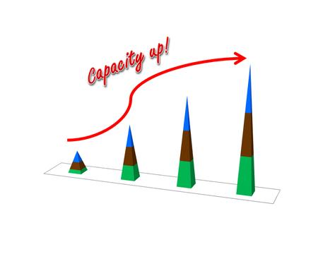 retained: Concepto de éxito de negocio mostrar garph aumento de la capacidad de imagen