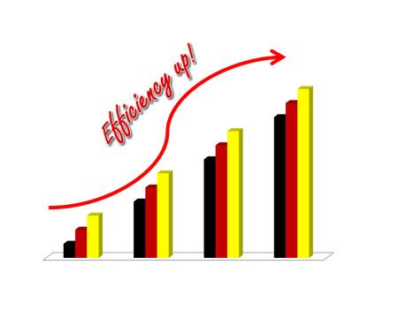 retained: concepto de mostrar la imagen a aumentar la eficiencia garph el éxito del negocio