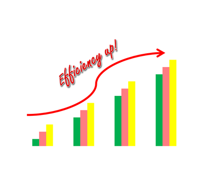 Business success concept show garph picture efficiency increase Stock Photo