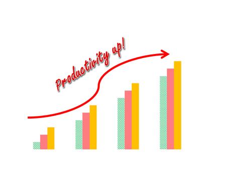 retained: El éxito del negocio concepto demostración de la imagen garph aumento de la productividad
