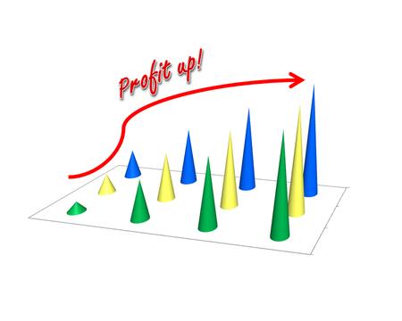 retained: Business success concept show garph picture profit increase Foto de archivo