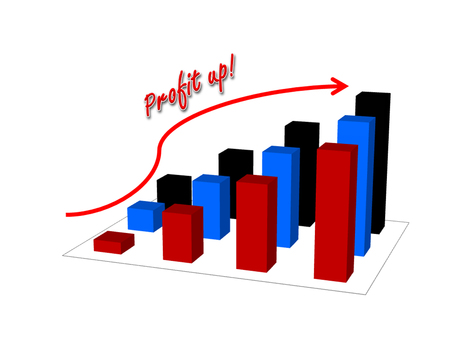 Business success concept show garph picture profit increase Stock Photo