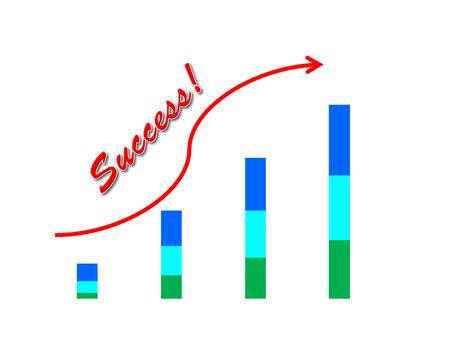 retained: El éxito del negocio concepto demostración de la imagen garph éxito aumentan